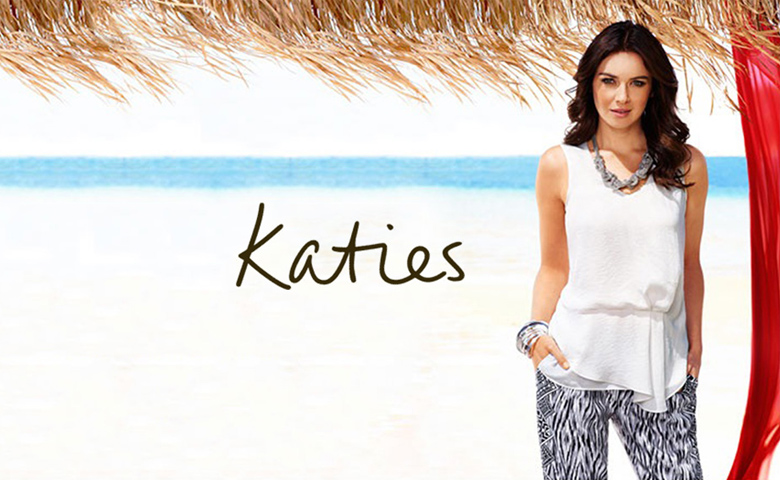 Where are katie's clothes made ?